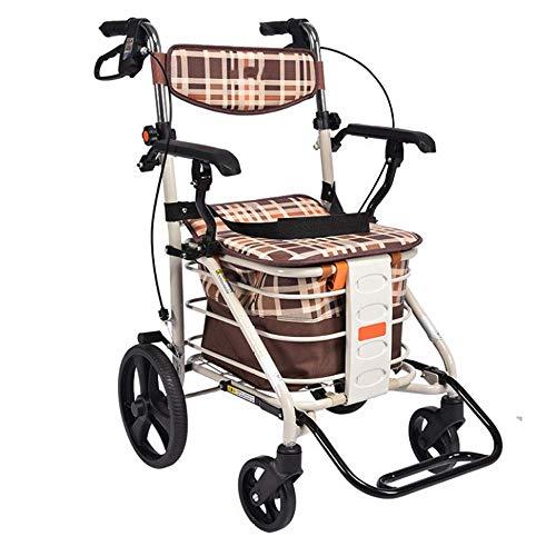shopping cart Wandergestell, Einkaufswagen für Senioren, Trolley, Gehhilfe, Senioren-Allrad-Einkaufswagen,A