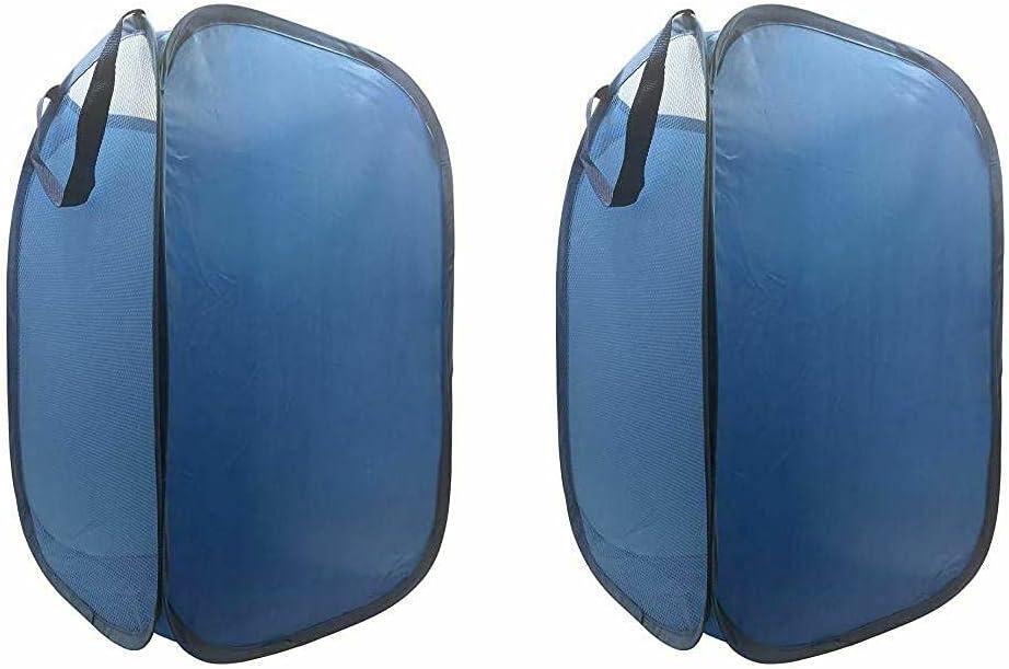 Collapsible Under blast sales Hamper Laundry Bag Basket a Blue room 2-Pack mart