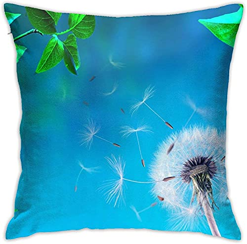 BONRI Throw Pillow Case, Purple Ball Pillow Cover, Funda de Almohada Decorativa Cojín Cuadrado para sofá Sofá Coche 18x18-Dandelion
