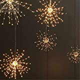 Xxdyhk LED Light String,Solar Battery Box Copper Wire Fireworks Light Explosion Lamp String LED Copper Wire String Home Garden Lamp