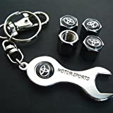Toyota Tire Valve Caps with Wrench Keychain