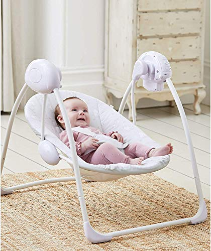 Deluxe Foldable Baby Bouncer Grey Elephant First Swing...