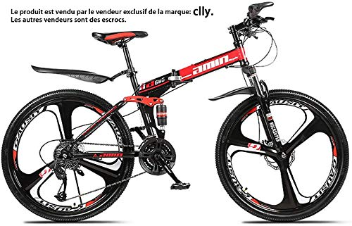 """avis vtt moins de 500€ professionnel ZLZNX 24 """"VTT à suspension intégrale, vélo pliant avec freins à double disque, suspension avant, cadre…"""