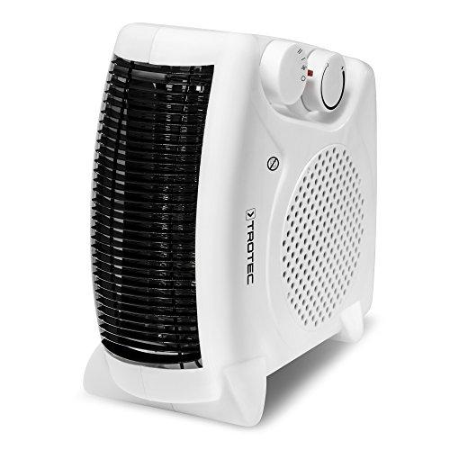 TROTEC Heizlüfter TFH 19 E 2 Heizstufen (1000/max. 2000 Watt), Kaltstufe (Ventilator), 2 unterschiedliche Aufstellmöglichkeiten, weiß