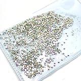 Gouen Rhinestones Glass con diseño de Mezcla de Caviar paraCristal Stone Glue on Nails Accessoires, SS6 Transparente