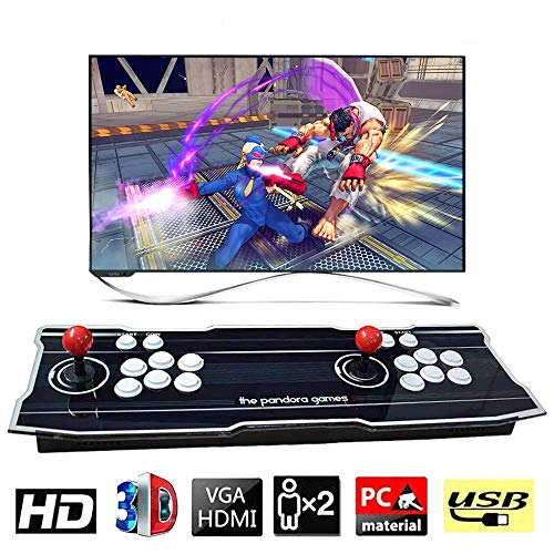 XFUNY Arcade Game Console 1080P 3D & 2D Games 2020 in 1 Pandora's Box 3D 2 Players Arcade Machine with Arcade Joystick Support Expand 6000+ Games for PC/Laptop/TV / PS4 (Black)