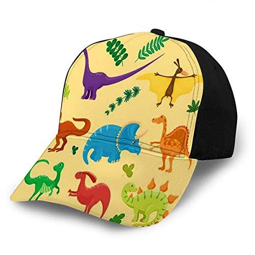Jeffrey Toynbee Adultos Dinosaurios de Dibujos Animados Ajustable Animal Dino Personaje prehistórico Reptil pre Gorra de béisbol Unisex