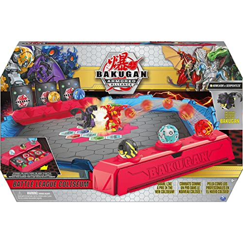 Bakugan Battle League Coliseum, hochwertige Arena mit gebogenen Seitenwänden und exklusivem Fusion Bakugan Howlkor x Serpenteze