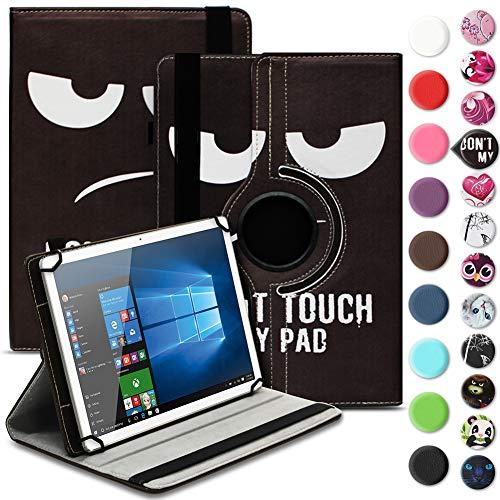 Nauci Tablet Hülle für Xido Z120 Z110 X111 X110 Tasche Schutzhülle Hülle Cover aus Kunstleder Standfunktion 360° Drehbar, Farben:Motiv 4
