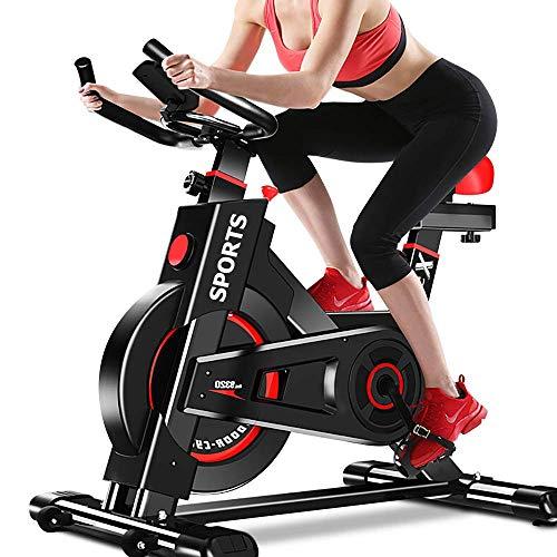 Ciclismo Indoor bicicleta estacionaria, ultra silencioso Inicio Magnética Bicicleta Estática grande bidireccional del volante, correa de transmisión, resistencia infinita, pantallas LCD de Inicio Card