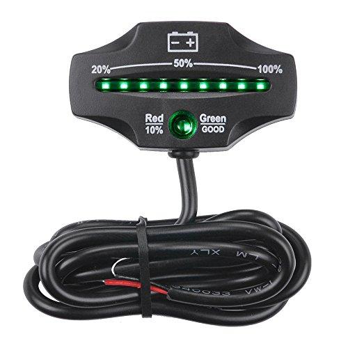 KKmoon Blei Säure Speicher Batterie Anzeige【12V/ 24V/ LED Lehre Batterie Niveau-Monitor/für Golf Karren/Marinemotorrad/LKW Gabelstapler】