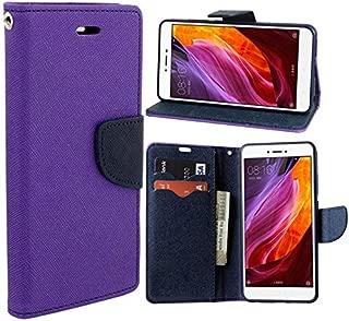 Wurzel Flip Cover for Vivo V9, Luxury Look Flip Cover Case for Vivo V9 - Purple, Blue
