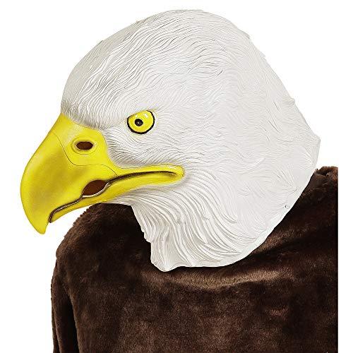 Widmann 96635 Ganzkopfmaske Adler, Unisex– Erwachsene, Bianco