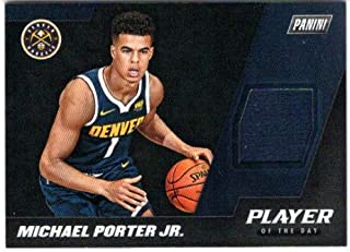 2018-19 Panini Player of the Day Memorabilia #MP Michael Porter Jr. Jersey Card - Denver Nuggets