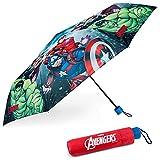 Paraguas Plegable Infantil de Avengers - BONNYCO | Paraguas Antiviento para Niños con Estructura Reforzada | Paraguas Infantiles para Bolso, Mochila o Viaje | Regalos Originales Disney para Niños