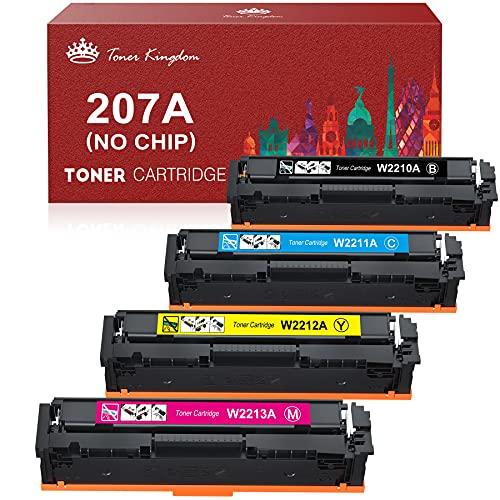 Toner Kingdom 207A Cartucce di Toner Compatibili per HP 207A HP 207X HP W2210A W2211A W2212A W2213A per HP Color Laserjet Pro MFP M283fdw M283fdn M255dw M255nw M282nw (Senza Chip)