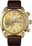 JSL Los hombres de negocios s reloj de cuarzo de seis agujas de los hombres de la correa reloj luminoso puntero reloj tendencia hombres s reloj negro-oro