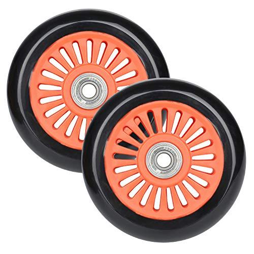 VOKUL 110mm Pro Scooter Ersatzräder mit ABEC-9 Lager - Hochelastisch PU und langlebig - Passend MGP/Razor/Lucky Stunt Roller mit 110mm Rädern, 2pcs (Orange)