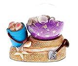 CoTa Global Resin Sand Bucket Miniature with Seashells Bottle, 3 Inch Intricate & Meticulous Art Figurine Decorative Tabletop Sculpture Centerpiece Accent Snow Globe Tropical Beach Themed Home Décor