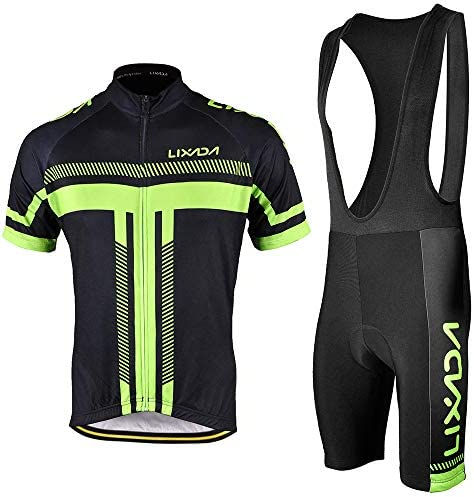 Lixada Men s Cycling Jersey Set Bicycle Short Sleeve Bib Set Quick Dry Breathable Shirt Padded product image