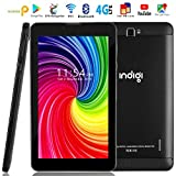Indigi 4G LTE Unlocked! 7-inch 4G Android Pie Smart Cell Phone & Tablet, GSM Unlocked AT&T T-Mobile (Black)