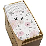 Sweet Jojo Designs Blush Pink, Grey and White Changing Pad Cover for Watercolor Floral Collection by diaper covers Dec, 2020