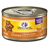 Wellness Natural Pet Food Complete Health Gravies Grain Free Canned Cat Food, Chicken Dinner, 3 Ounces (Pack of 12)