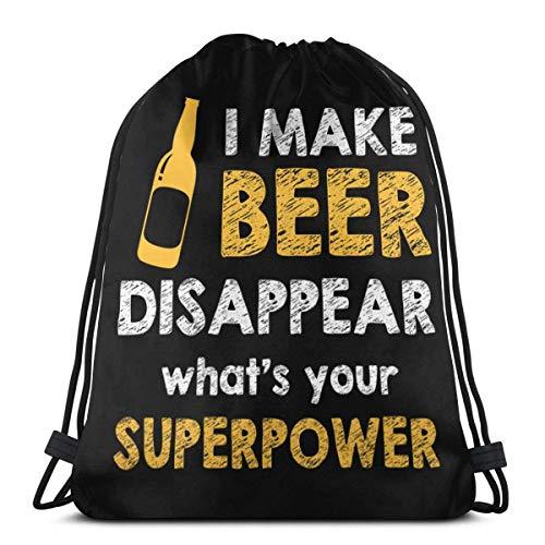 Vicky ik laat bier verdwijnen. Trekkoord Rugzak Reistas Cinch Zak Gym Sackpack