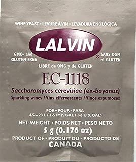 Lalvin  EC-1118 Saccharomyces bayanus 5 (5 g. Pouches)