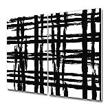 Coloray Tabla De Cortar Cocina Vidrio Templado Para Servir Platos 2x30x52cm Placa De Induccion Protector - Tela escocesa