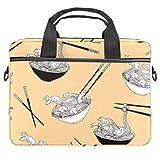 Borsa per computer portatile Tanuki Giocare tamburi Notebook Sleeve con maniglia 13-14,5 pollici Borsa a tracolla Valigetta