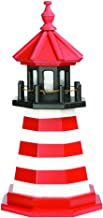 product image for DutchCrafters Decorative Lighthouse - Wood, West Quoddy Style (2', Red/White/Black)