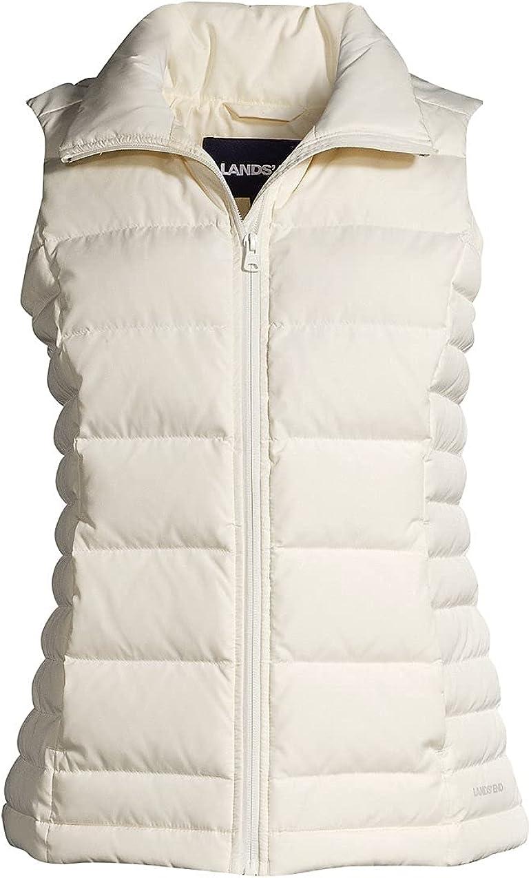 Lands' End Women's Puffer Vest Lightweight Padded Outerwear