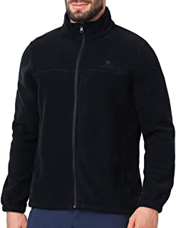 Men Full Zip Fleece Jackets with Pockets Soft Polar Fleece Coat Jacket for Fall Winter Outdoor