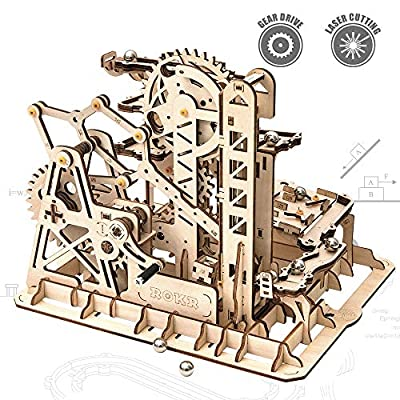 ROKR 3D Wooden Puzzle-Mechanical Model-Wooden Craft Kit-DIY Assembly Toy-Mechanical Gears Set-Brain Teaser Games-Best Gifts for Adults & Teens Age 14+(LG504-Tower Coaster) by ROKR