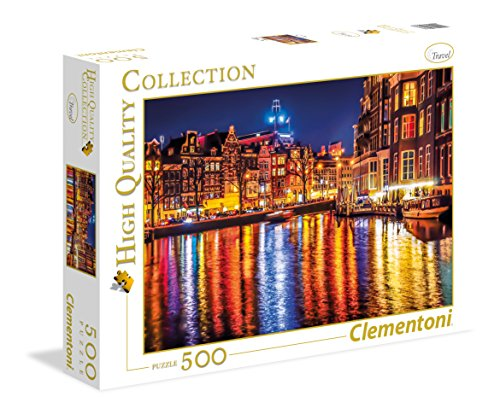 Clementoni- Amsterdam High Quality Collection Puzzle, Multicolore, 500 pezzi, 35037