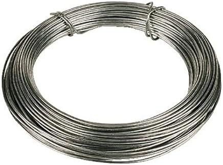 Merriway® BH00326 Galvanised Coated Garden Wire, 1.6mm x 30 Metres (97.5ft) 14 Gauge 1/16 inch Thickness