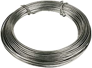 Merriway® BH00326 Galvanised Coated Garden Wire, 1.6mm x 30 Metres (97.5ft) 14 Gauge 1/16 inch Thickness