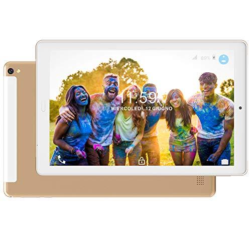 Tablet PC10.1 Pollici 4G LTE Dual SIM /WiFi tablet Android 8.0 con 3GB di RAM e 32GB ROM Batteria 8000mAh- Oro