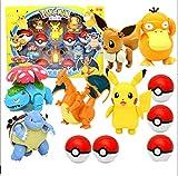 6 Piezas Pokeball Elf Pet Deformation Golf Set Pikachu Spitfire Toys Dragon Little Super Dream Toy Pokemon En Caja