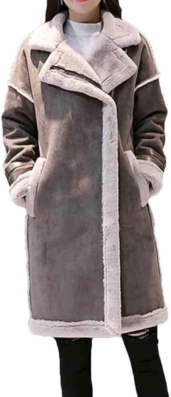 BLTR Women Autumn Thicken Faux Suede Jacket Coat