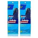 Gillette Sensor2 Disposable Razors 12 ea.(Pack of 2)