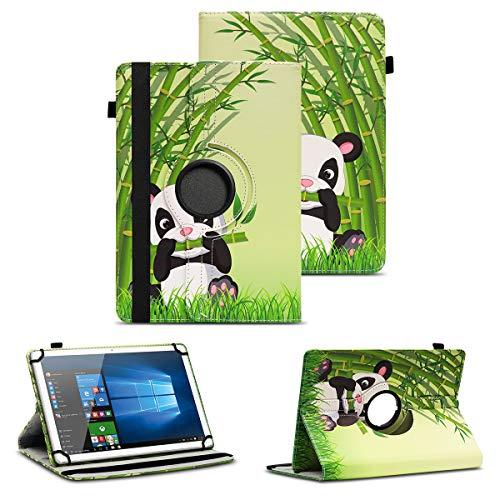 NAUC Schutzhülle kompatibel für TrekStor Surftab Breeze 10.1 Quad 3G Tablet Hülle Tasche Schutzcase Cover 360° Drehbar Hülle, Farben:Motiv 11