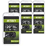 8TEN Chainsaw Chain for Stihl 024 066 Husqvarna Rancher 455 450 33RS-72 501842672 20 inch .050 3/8 72DL 6 Pack