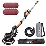 TACKLIFE Drywall Sander 6.7A(800W), Automatic Vacuum System Enable Efficient Dust Absorption, 12 Sanding Discs Variable Speed 500-1800RPM Electric Drywall Sander with LED Light and Carry Bag | PDS03A
