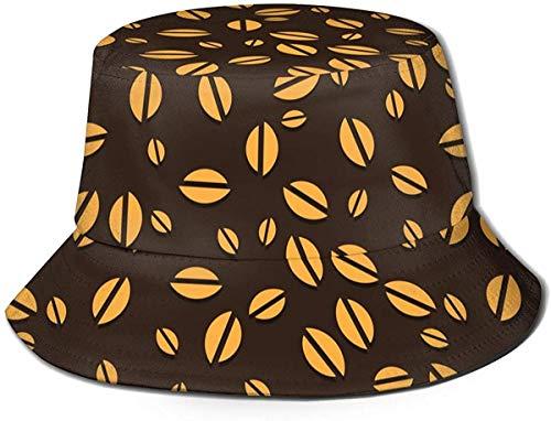 Sombrero de Cubo de Viaje con Estampado de Lirio de Cuatro Colores Unisex, Gorra de Pescador de Verano, Sombrero para el Sol, Granos de café
