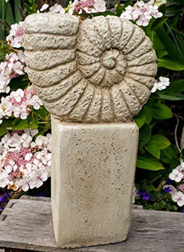 Vintage Gartendeko Muschel XL Schnecke, Ammonit, Figur, Garten, Deko, Dekoelement, Innen und Außen, Terrakotta, Gartenfigur