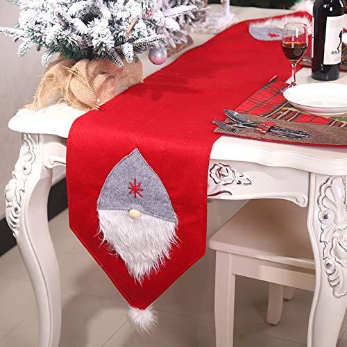 FRFJY Bandiera da Tavolo, Panno Bandiera da Tavolo Creativo Foresta Tovaglia caffè Tavolo Ristorante Desktop Decorazione Natale Decorazione Forniture - Rosso