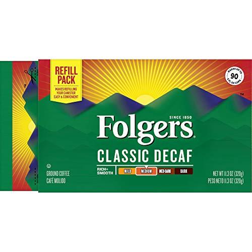 Folgers Classic Decaf Medium Roast Coffee Brick, (Pack of 12)