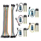 QLOUNI 5pcs Conjunto de Módulo Sensor de Humedad del Suelo Sistema de Riego Automático KY70 para Arduino